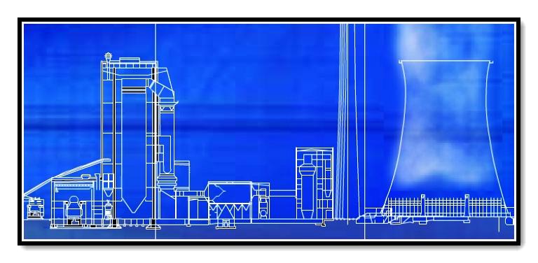 热力发电工艺流程动画